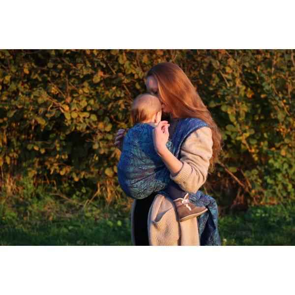 30764122f0b YARO Woven Wrap - Elvish Violet Aqua-Green Tencel - Babywearing and You